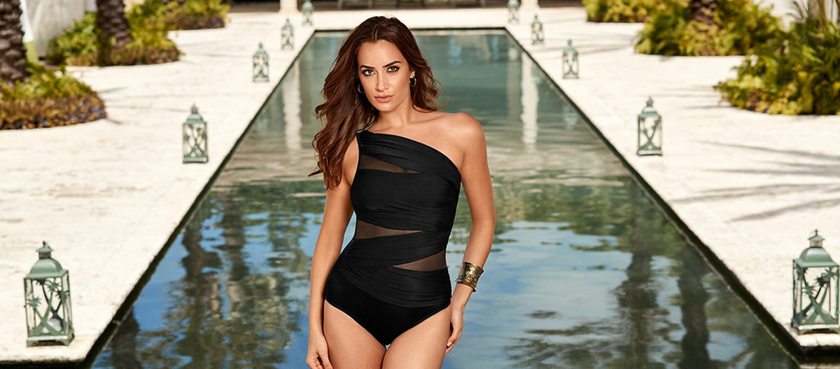 High Neck One Piece Swimsuits