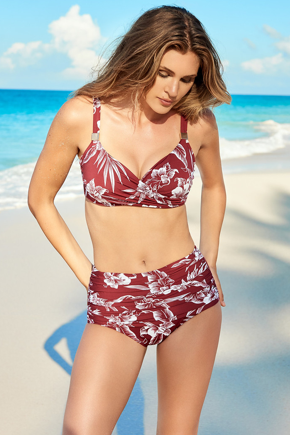 Miraclesuit Norma Jean Hibiskiss Tummy Control Swim Bottoms